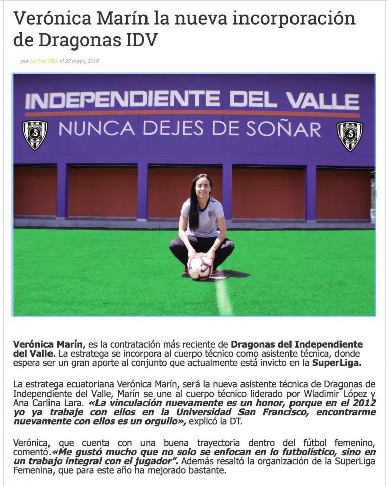 2019 06 03 Veronica Marin Independiente del Valle Imprensa MBP